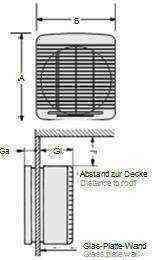 Vitro ablakventilátor méretrajz