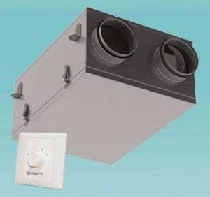 Vents VUE 100 P mini keresztáramú hőcserélős szellőztető