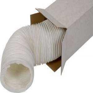 SIG PVC-W Ultra könnyű és hajlékony fehér színű légcsatorna