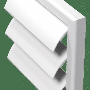 műanyag szellőzőrács gravitációs zsaluval