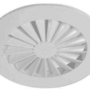 SIG RWR-N (RAL9016) Perdületes mennyezeti anemosztát fix lamellákkal