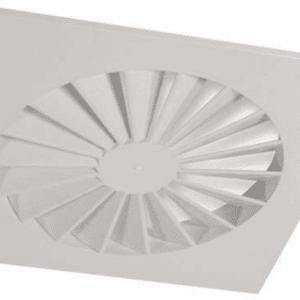 SIG VWR-N (RAL9016) Perdületes mennyezeti anemosztát fix lamellákkal
