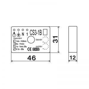 DALAP Kiegészítő elektronika(cs3-b1, méretrajz)