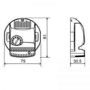 DALAP Kiegészítő elektronika(cv701, méretrajz)