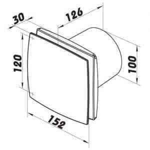 WC, fürdőszoba ventilátor(bf, méretrajz100)