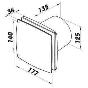 WC, fürdőszoba ventilátor(bf, méretrajz125)