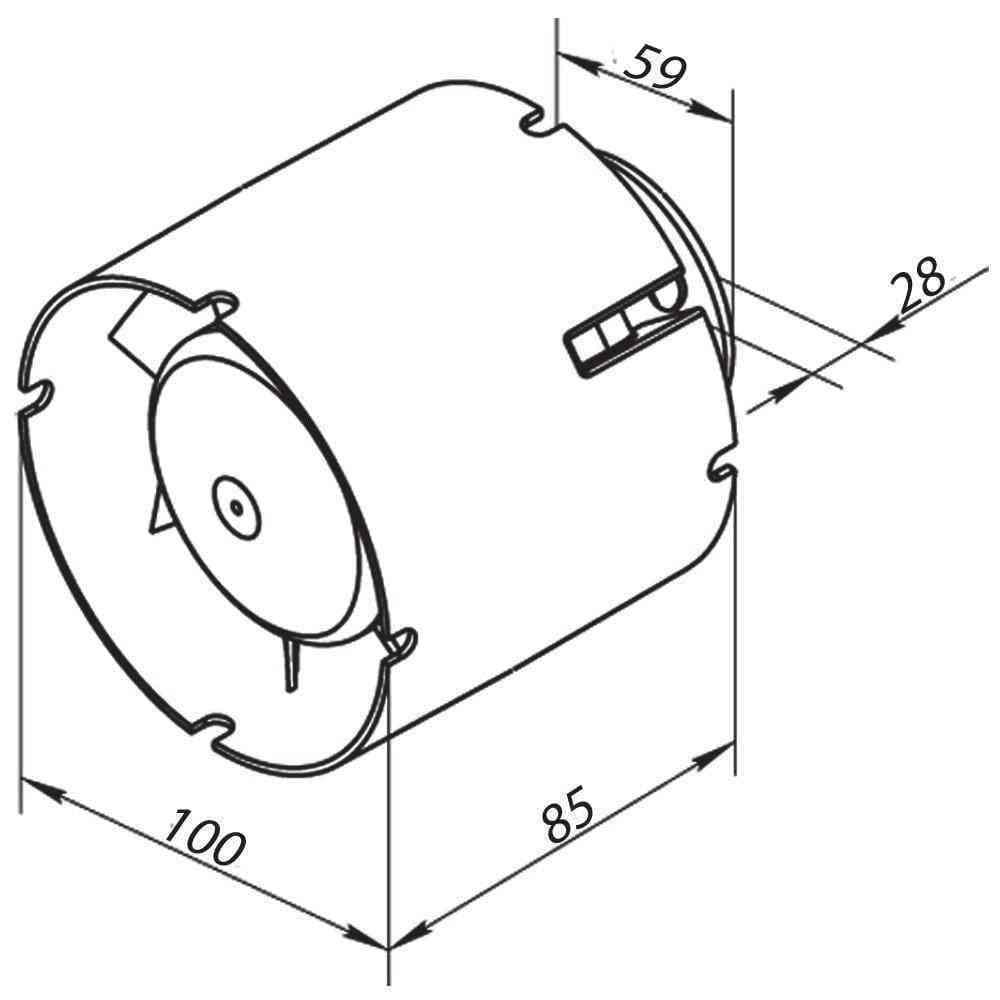 WC, fürdőszoba ventilátor(sd, méretrajz100)