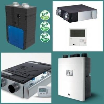 Több helységes hővisszanyerő berendezések(montázskép)