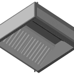 ATFEFS Rozsdamentes fali elszívóernyő frisslevegő befúvással, segéd légsugárral